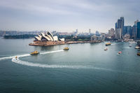 Sydney city center and Opera House, Australia