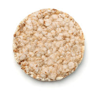 Top view of puffed crispbread