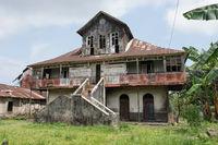 Ruine eines kolonialen Farmhauses, Sao Tome, Afrika