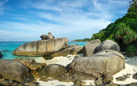 Beach and rocks on Similan islands