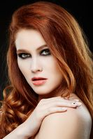girl with beautiful long red hair