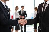 Business handshake at meeting