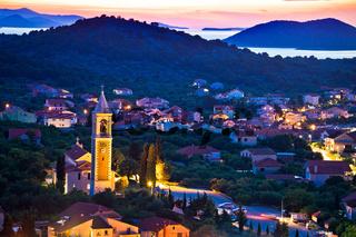 Town of Murter evening view