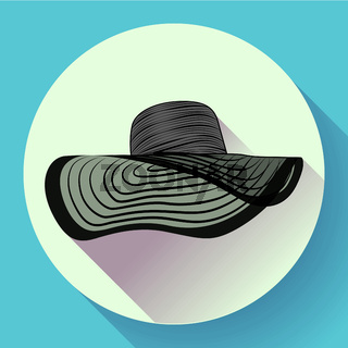 Womans summer hat icon