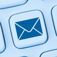 E-Mail Email Brief senden online Internet Computer Tastatur blau web