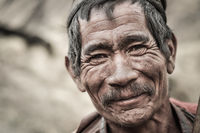 Smiling old man in Nepal