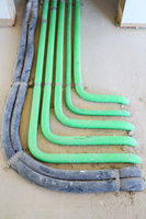 Rohrleitungen im Rohbau