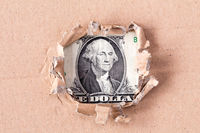 Dollar in hole