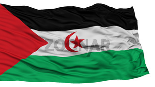 Isolated Sahrawi Arab Democratic Republic Flag
