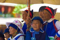Lijiang Senior Naxi Women Group Watching Dancing