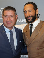 Joachim Llambi und Massimo Sinato bei 25 Jahre Papenbreer Magdeburg, Große Internationale Fashionshow am 20.09.2017 in Magdeburg