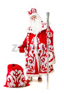 Santa Claus isolated on white background.