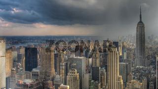 Thunderstorm over Manhattan