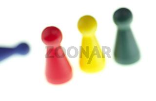 Still mit 4 Spielfiguren, 4 pawns in game