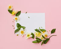 Flowers covering blank copy space