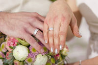 Garden Wedding exchange rings