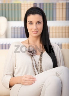 Relaxing attractive woman