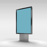 Black vertical turned monitor mockup .