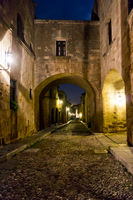 Rhodes Old City By Night, Street of Knights, Greece