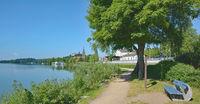 an der Seepromenade in Ploen,Holsteinische Schweiz,Deutschland