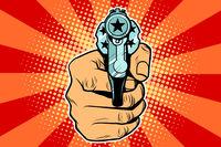 star revolver in hand