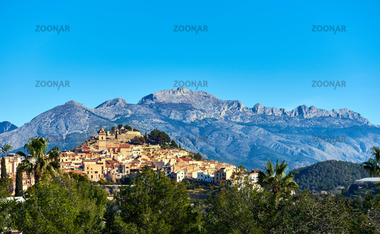 Picturesque spanish hillside village Polop de la Marina. Spain