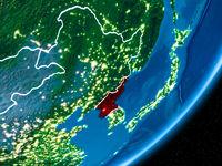 Night over North Korea