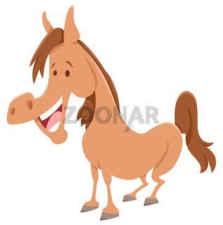 horse cartoon farm animal character