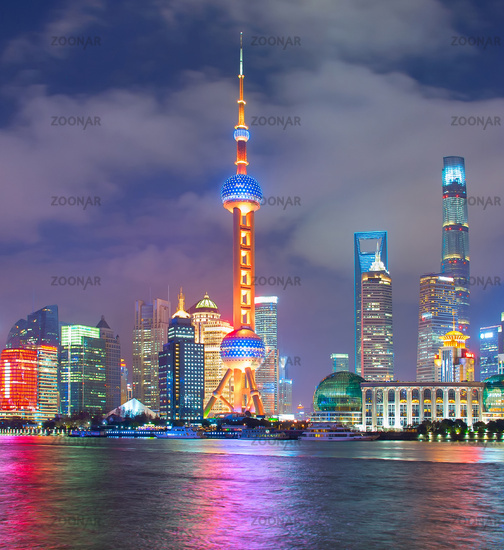 Night view of Shanghai. China