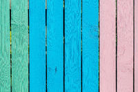 Colorful wooden planks.
