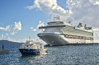Cruise Ship, In The Harbour,Fort de France, Martinique, West Indies
