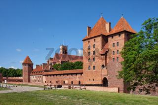 Malbork Castle of Teutonic Order in Poland