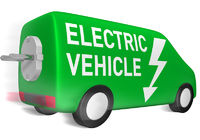 Lieferwagen electric vehicle
