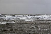 Sturmtief Herwart am Rysumer Nacken in Ostfriesland