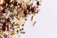 Shining varied beads - close up photo