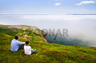 Father and son on Signal Hill