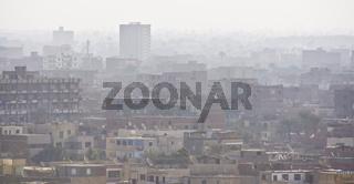 Großstadt Smog city Kairo Cairo
