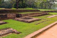Landscape of ruin Royal Gardens and Pools, Lion Rock Sigiriya, Attractions Sri Lanka