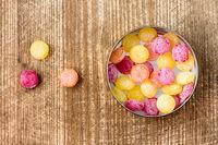 Multi colored candy