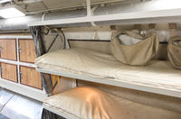 Interior of an old submarine - Bed