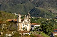 Church and hills of Ouro Preto