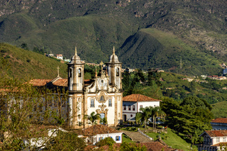 Church and hills of Ouro Preto