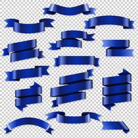 Blue Web Ribbons Set