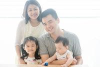 Beautiful Asian family portrait