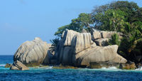 Granit Felsen auf Coco Island