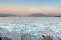 Gardasee im Abendlicht,  Italien