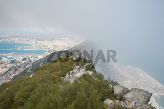 Aerial view of top of Gibraltar Rock