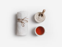 Towel, salt and tea