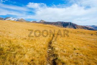 Path thru golden autumn mountains, Lagodekhi