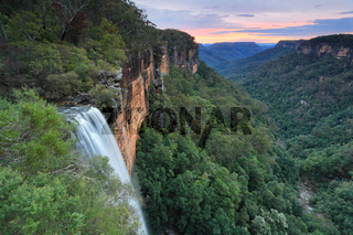 Sunset at Fitzroy Falls Southern Highlands